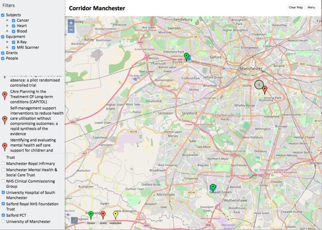 Corridor Manchester Interactive Map