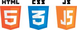 HTML5, CSS3 and JavaScript Logos