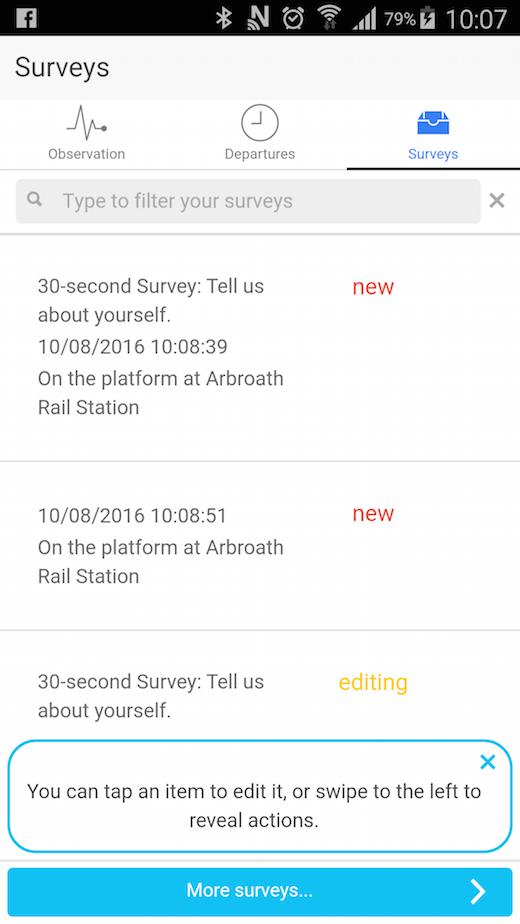 RIM surveys screenshot